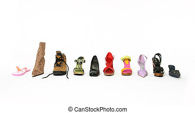 What's your walking style - Boots, thongs, shoes, sandals, ...