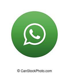Whatsapp vector icon design for website