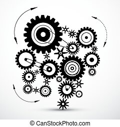 Wheals - Cogs - Gears Vector