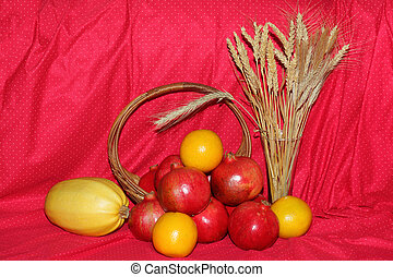 Wheat and Fruits
