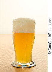 wheat beer in a glass