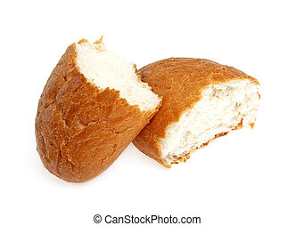 Wheat bun isolated on white background