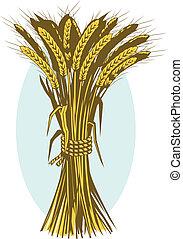 Clip art of a wheat bundle or bushel