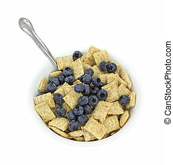 Wheat cereal with wild blueberries