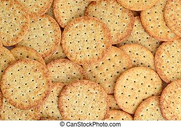 wheat cracker making a background