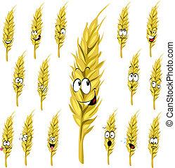 wheat ear cartoon