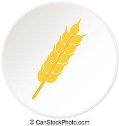 Wheat ear icon circle