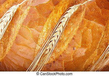 wheat ear on bread