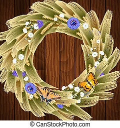 Wheat ear wreath