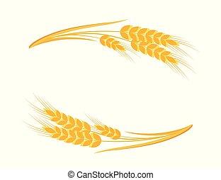 Wheat ears frame