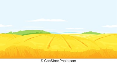 Wheat Field Landscape Background