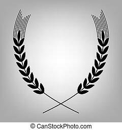 Wheat flat icon