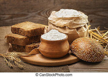 Wheat flour and bread