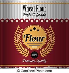 Wheat Flour Label Poster