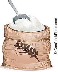 Wheat Flour Sack Illustration