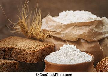 Wheat flour, sliced bread