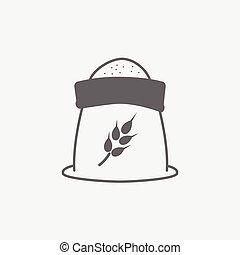 wheat flour vector icon