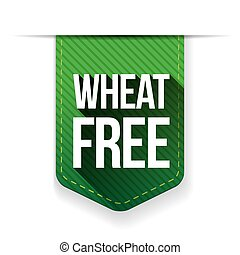Wheat Free sign ribbon