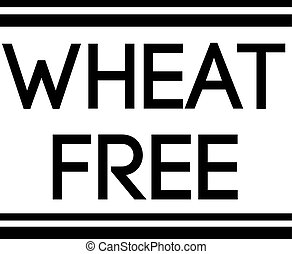 WHEAT FREE stamp on white background