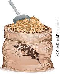 Wheat Grain Sack Illustration