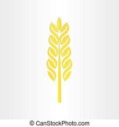 wheat grain stylized icon design