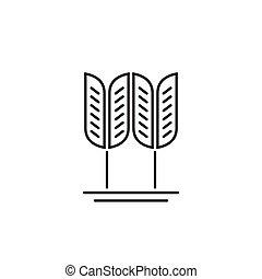 Wheat grain vector logo, concept of organic food, cereal symbol