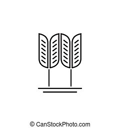 Wheat grain vector logo, concept of organic food, cereal symbol
