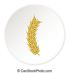 Wheat icon, cartoon style