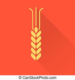 wheat icon flat style