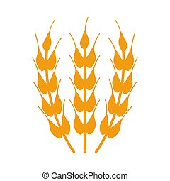 wheat icon on white background.