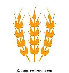 wheat icon on white background.