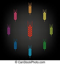 Wheat icon set