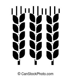 wheat icon, vector illustration, sign on isolated background