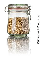 Wheat in a jar