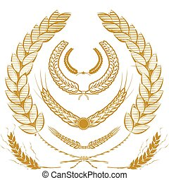 Wheat Laurels - A collection of wheat laurels and wreaths
