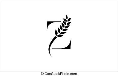wheat logo letter Z vector illustration