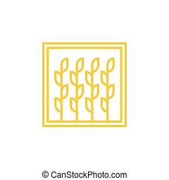 wheat Logo template vector icon design illustration
