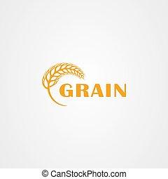 Wheat logo vector illustration isolated on white background