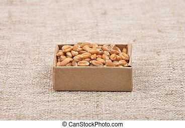 Wheat on linen