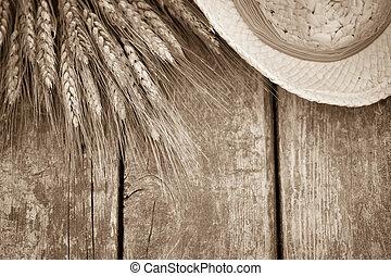 Wheat on wood