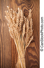wheat on wood