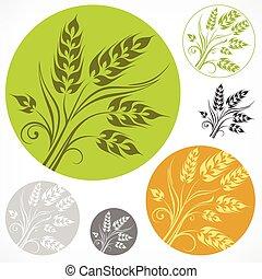Wheat pattern in round