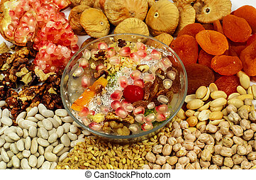 Wheat pudding with dried nuts and fruits (Asure) - ...