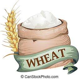 Wheat Sack Ribbon Illustration