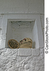 Wheat Sack within Old Fireplace at Stirling Castle in Scotland