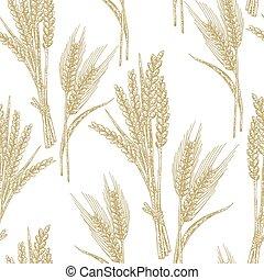 Wheat seamless pattern. Vector