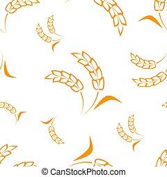 Wheat seamless pattern. Vector illustration.