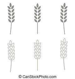 Wheat  set  icon .