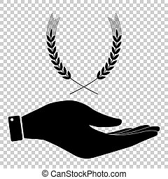 Wheat sign. Flat style icon