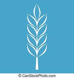 Wheat spike icon white